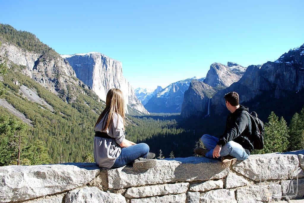 Visão de tirar o fôlego no Yosemite Park