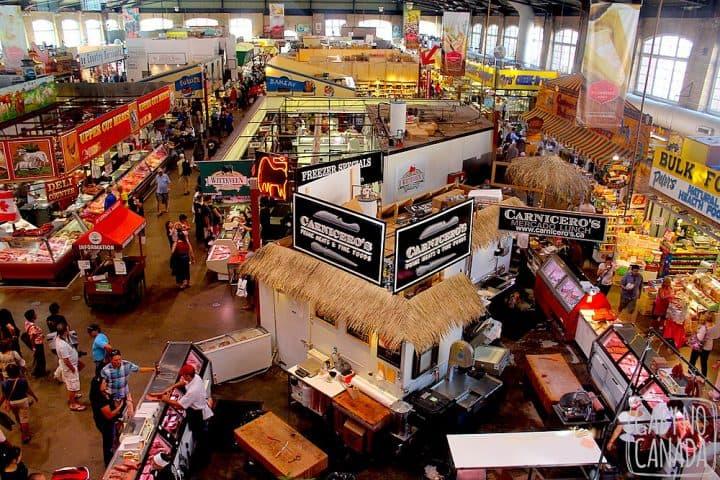 Vista do Mercado Sul, andar térreo (mas não deixe de visitar o andar inferior)