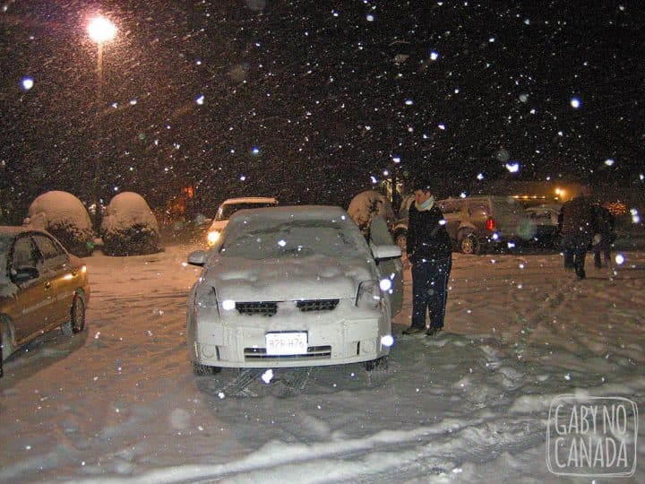 Roadtrip e inverno: uma combinação não muito boa. Esta foto é de 2008 quando fizemos uma Roadtrip em Dezembro em 5 estados Americanos, saindo de Boston.