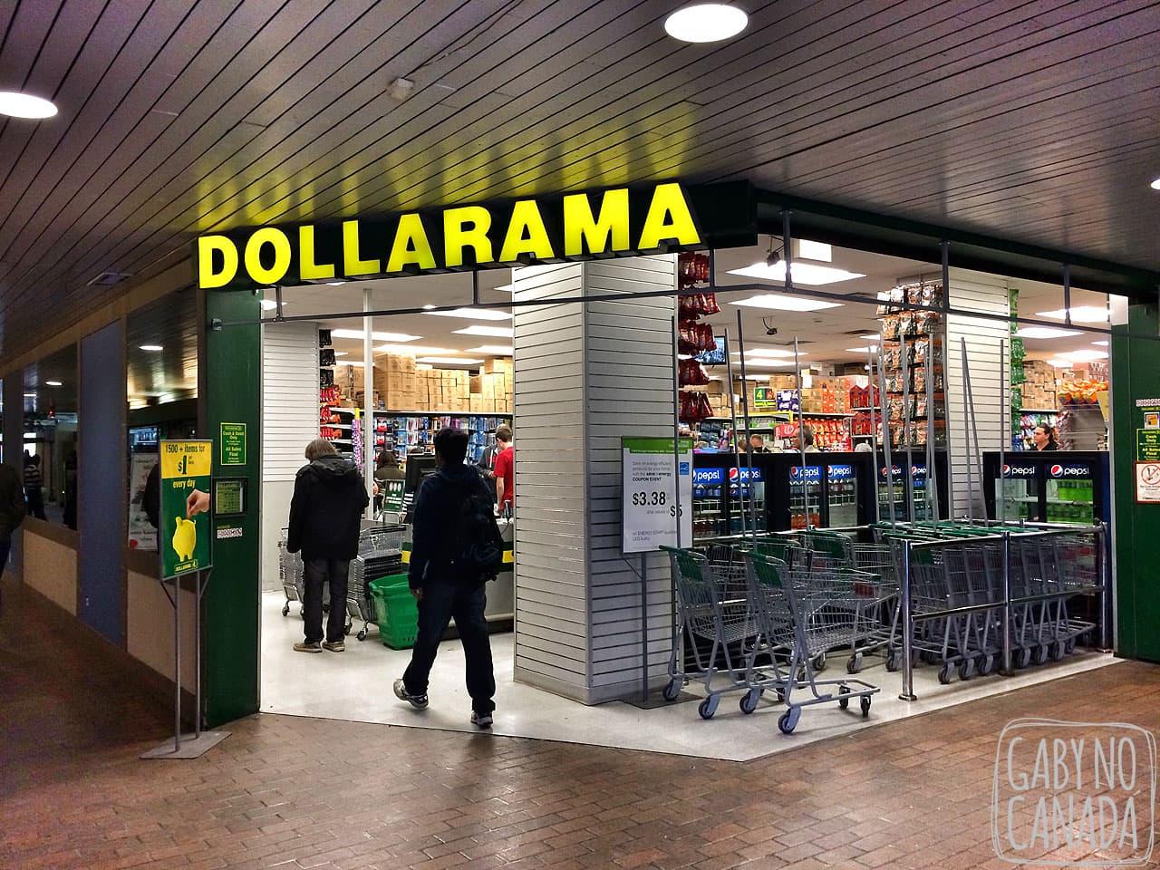"""457c1e1852 Dollarama é a versão da """"loja de R$1.99"""" do Canadá, mas os produtos são  melhores e a variedade é enorme (você acha de tudo por lá, sério)."""